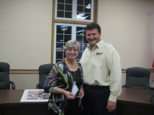 Ann George with Rad Air General Manager, Andy Fiffick