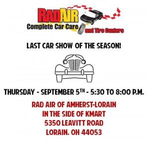rad air, lorain, ohio, car show