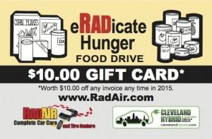 RadAir Eradicate Hunger Gift Card - 1