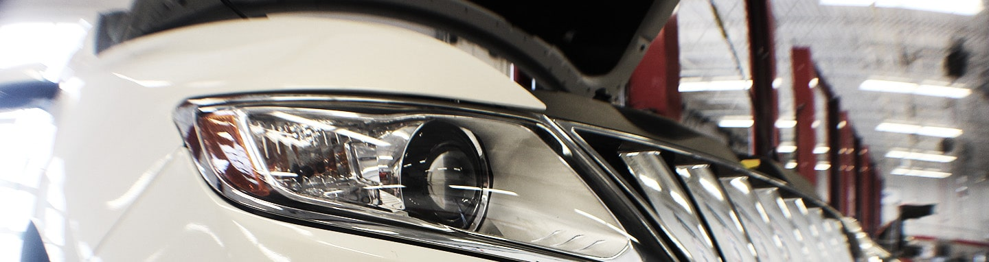Car Headlight and Grill