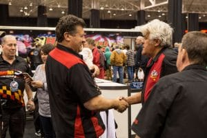 Andy Fiffick with Jay Leno at Rad Air Piston Power Show