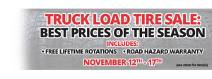 Truck Load Tire Sale