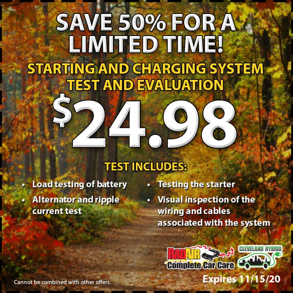 Starting and Charging System Test and Evaluation $24.98 coupon
