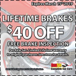 Lifetime Brakes