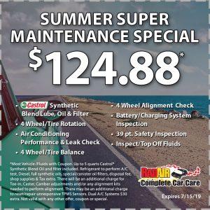 $124.88 Summer Super Maintenance Special