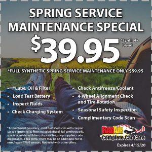 Rad Air Spring Service Maintenance Special April 2020 Coupon