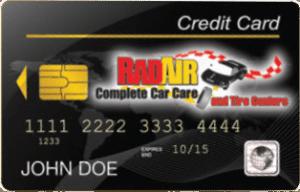 Rad Air credit card