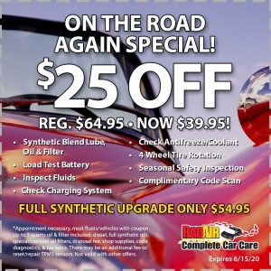 Rad Air On the Road Again Special June 2020 Coupon