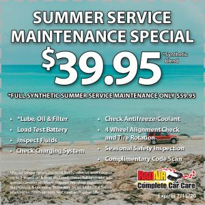 Rad Air Summer Service Maintenance Special July 2020 Coupon