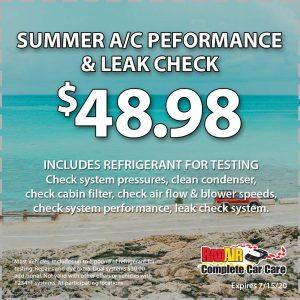 Rad Air Summer AC Performance & Leak Check July 2020 Coupon