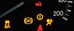Car dashboard warning lights