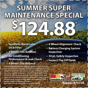 Rad Air Summer Super Maintenance Special August 2020 Coupon