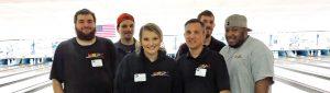Rad Air team building at bowling alley
