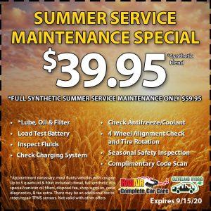 Rad Air Summer Service Maintenance Special September 2020 Coupon