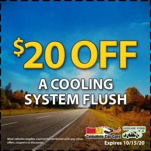 $20 off a Cooling System Flush October 2020 Coupon