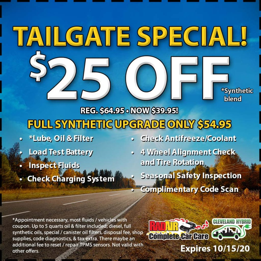 Tailgate Special $25 Off October 2020 Coupon