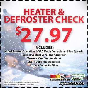 Rad Air Heater & Defroster Check Coupon