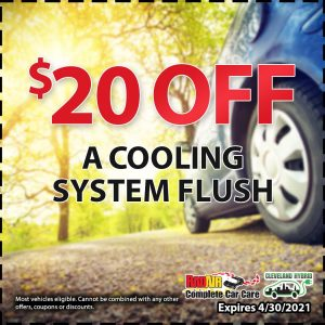 $20 off a cooling system flush