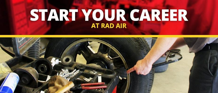 start your career at rad air