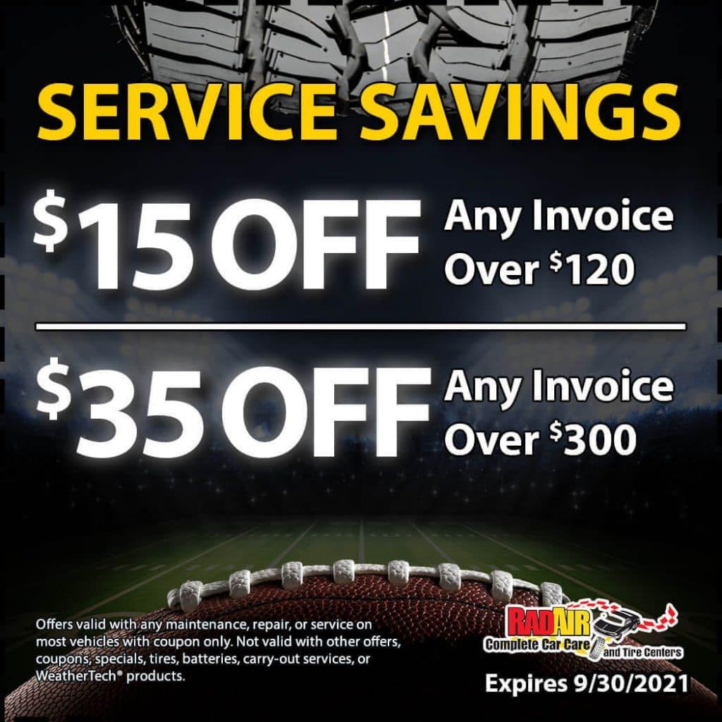 Service Savings Coupon