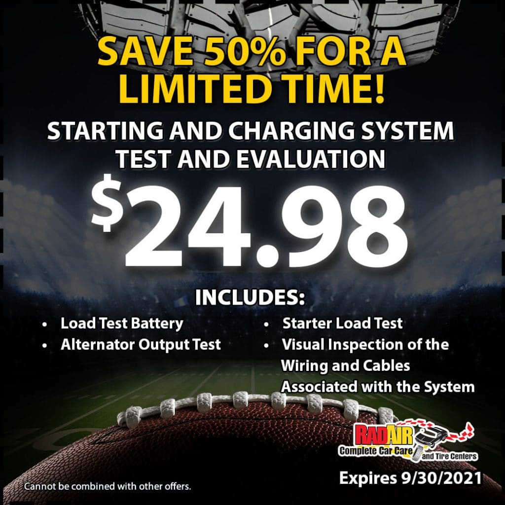 Starting and Charging System Test and Evaluation Coupon